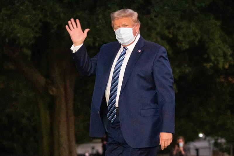 美國總統川普於台灣時間今天早晨出院。(歐新社)