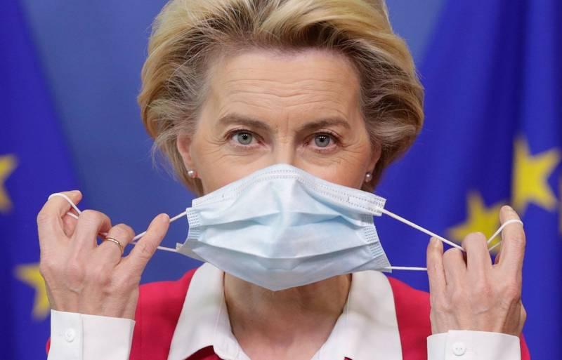 歐洲聯盟執行委員會主席馮德萊恩(見圖)近日接觸過確診者,她昨日表示已開始自我隔離,到今日為止已滿7天解除隔離。(歐新社)