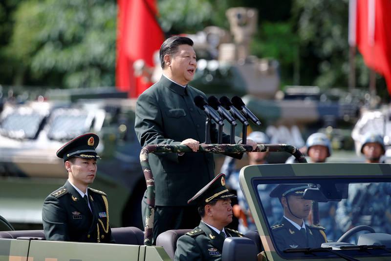 中國解放軍從9月中至今持續派遣軍機擾台,前中共黨校教授蔡霞受訪指出,習近平(見圖)為了在歷史留名,加上中國「大一統」的傳統帝王觀念,肯定有「武統台灣」、「收復台灣」的野心及想法。(路透資料照)