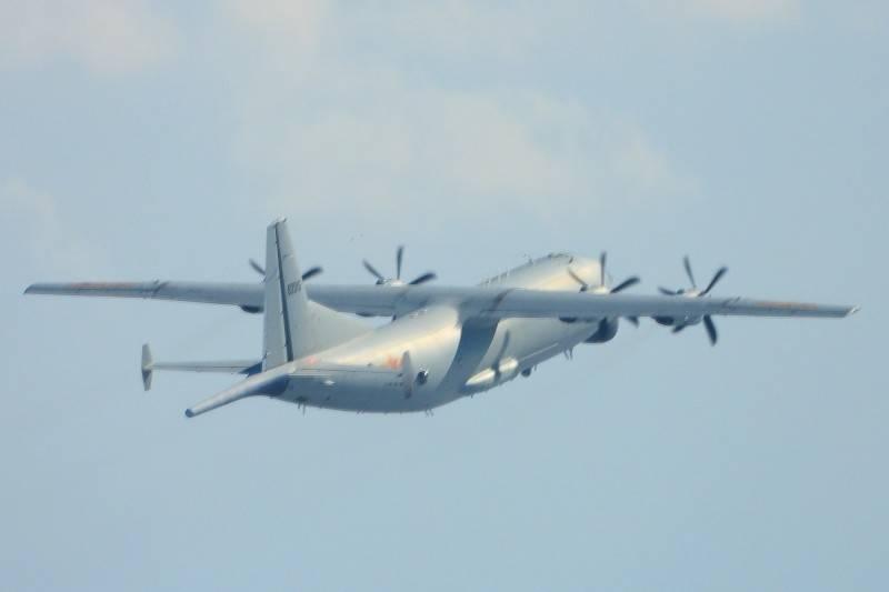 根據廣播記錄,共機今日中午11時55分度入侵我ADIZ(西南空域),高度3500公尺,軍方都依慣例兩度廣播驅離。圖為共機近期頻繁使用運八反潛機侵入我空域。(國防部提供)