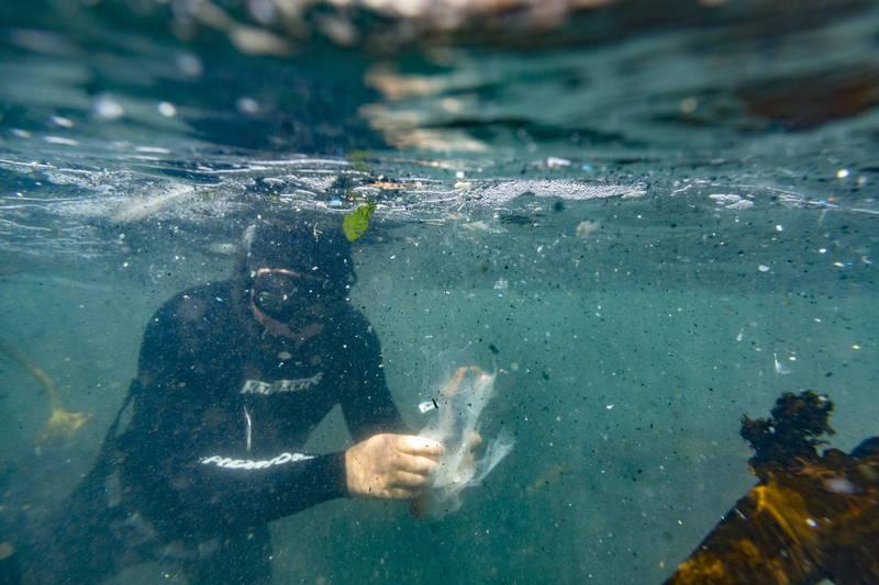 澳洲最新研究預估,全球海底應有超過1400萬噸塑膠微粒。(歐新社資料照)