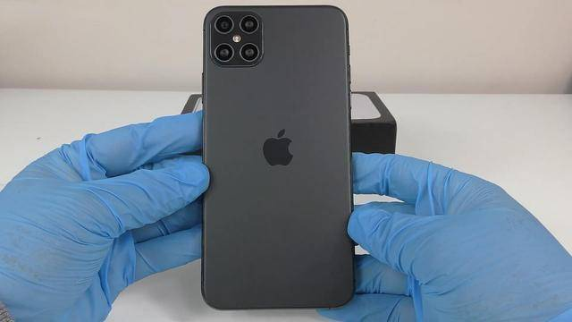 中國山寨iPhone 12背面視圖。(圖片截取自微博)
