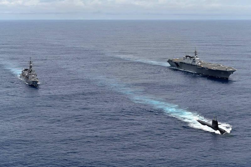 日本今天出動艦隊前往南海進行軍演。(圖取自日本海上自衛隊)