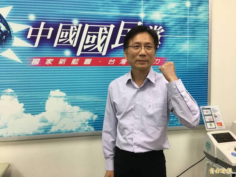 國民黨桃園市議員詹江村(見圖)認為,去年他對陳柏惟提出的「舔共」言論不算性交暗示語。(資料照)