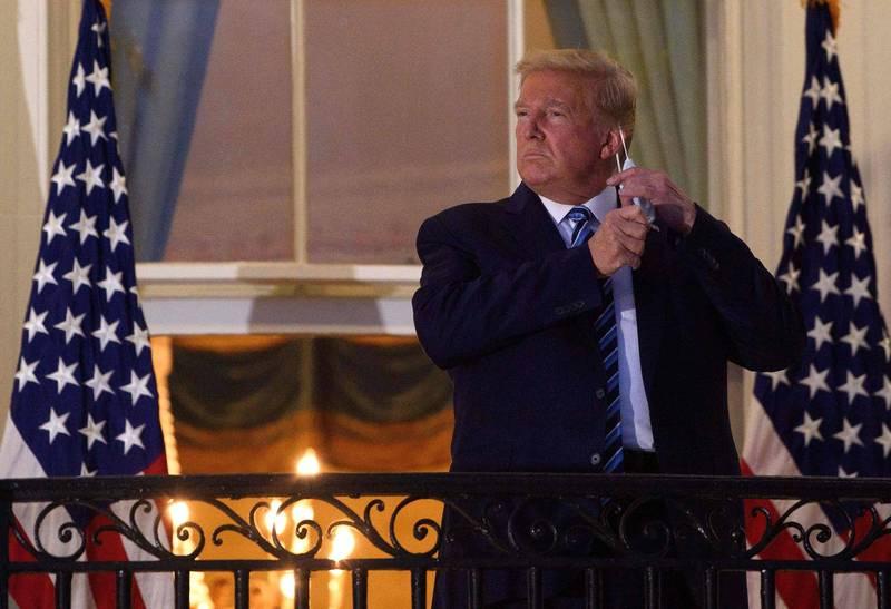 美國總統川普8日表示,他有可能在10日出席佛羅里達州的公開競選活動。(法新社資料照)