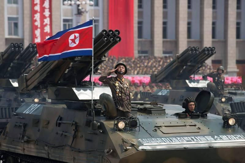 外媒預測北韓雙十閱兵典禮將是史上規模最大。(法新社資料照)