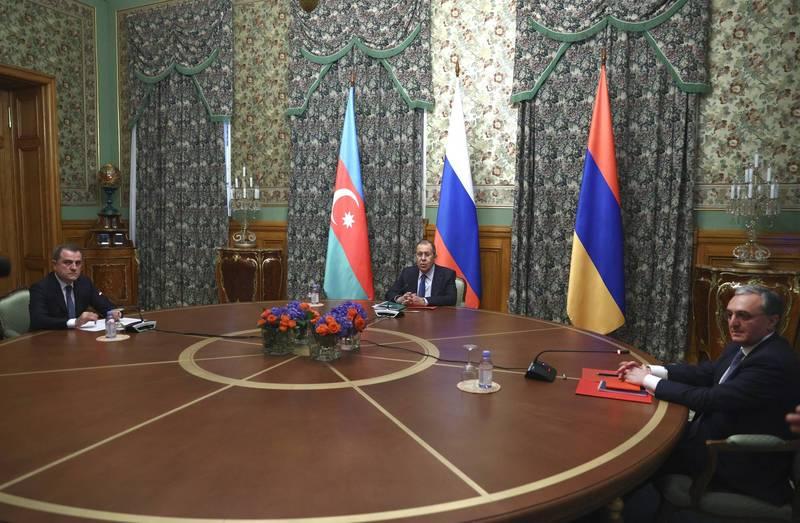 亞塞拜然與亞美尼亞在俄羅斯居中調停下,同意於10日凌晨停火。但簽字雙方隨後卻開始指責對方沒有遵守停火協議(美聯社)