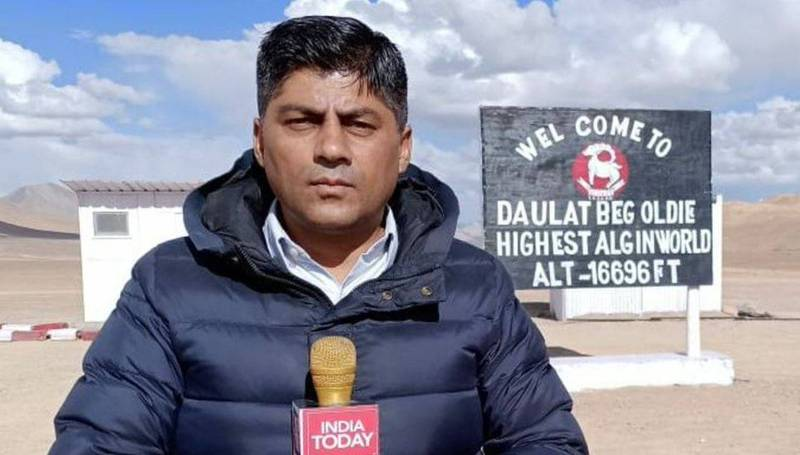 印度媒體《India Today》執行主編兼主持人索恩特。(擷取自Gaurav C Sawant推特)