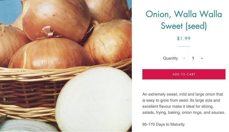 加拿大種子公司在臉書上傳洋蔥廣告,結果被臉書以含有過度性感內容的理由刪文。(圖擷自The Seed Company by E.W. Gaze)