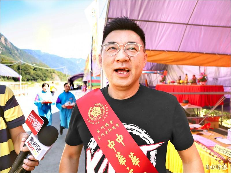 國民黨主席江啟臣昨表示,去中國化黨內無共識,現階段黨改革重於改名。(記者歐素美攝)
