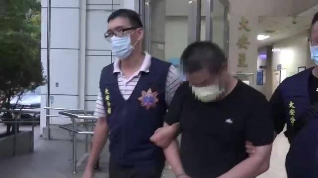 卓男擁槍毒被警方逮捕。(記者姚岳宏翻攝)