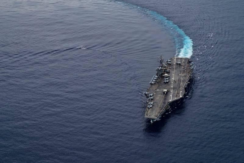 美國雷根號航艦被中方發現,12日朝向中國南海移動。(歐新社)