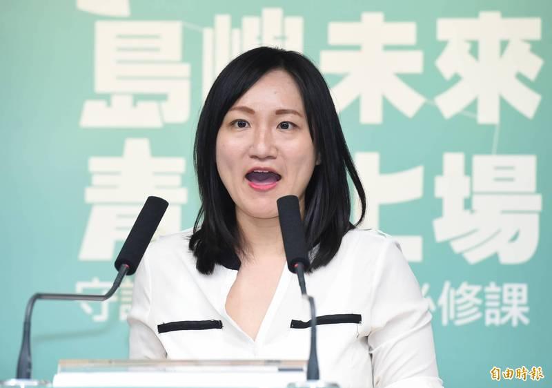 中國國台辦蓮宣稱,「台灣自古屬於中國領土」;對此,民進黨發言人謝佩芬(見圖)說,「政府已經一再嚴正表示,中華民國是主權國家,台灣從不屬於中華人民共和國的一部份。」