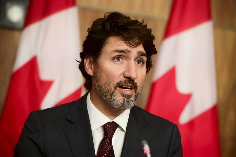 加拿大總理杜魯道(Justin Trudeau)在加拿大與中國建交50週年之際,發表對中國強硬言論。(美聯社資料照)