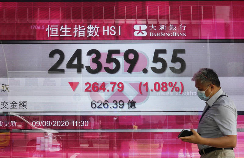 滬深股通在內的證券市場、衍生產品市場13日當天都交易暫停。港股示意圖。(美聯社檔案照)