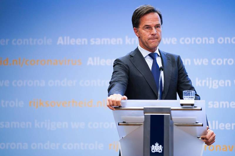 荷蘭首相呂特(Mark Rutte)宣布於當地時間週三開始實施「部分封閉」。(歐新社)