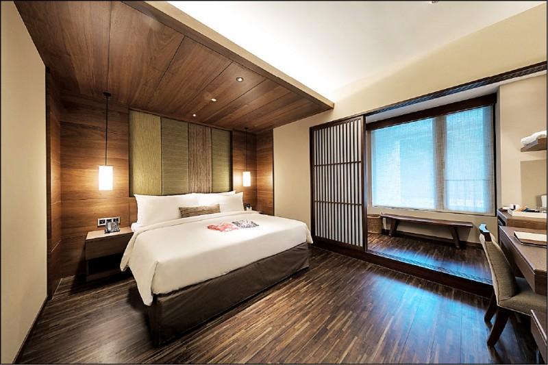 北投亞太飯店線上旅展10月12日開賣,經典雙人客房一泊一食平日住宿券每張6700元 ,旺季平日不加價。(業者提供)