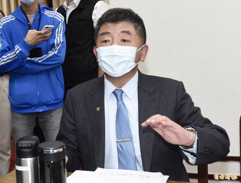 衛福部長陳時中今列席報告並備詢。(記者簡榮豐攝)