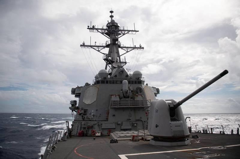 美太平洋艦隊臉書證實,貝瑞號驅逐艦航昨經台海。(圖翻攝自美太平洋艦隊臉書)