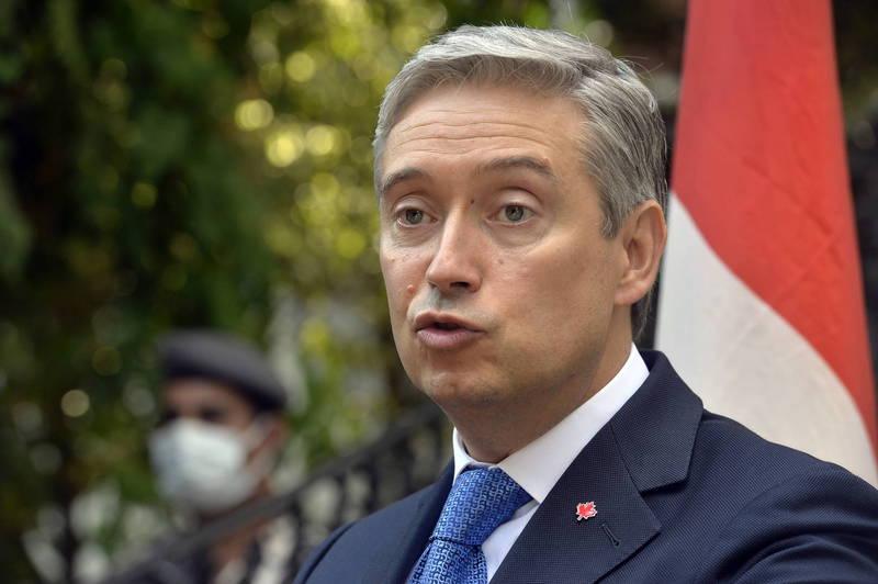 加拿大外交部長沈潘(見圖)反擊,強調不能接受中國大使的言論,將表明加拿大「永遠支持人權」。(歐新社)