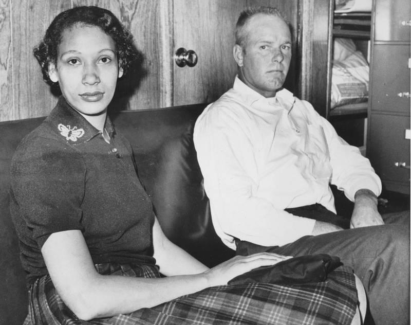 圖為洛文訴維吉尼亞州案中的當事人洛文夫婦。(美聯社)