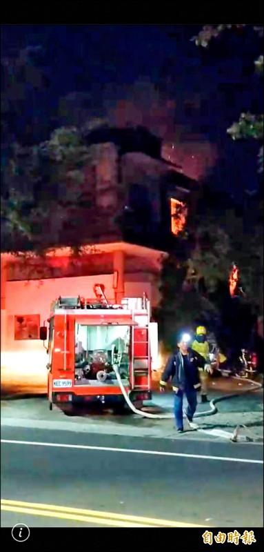 台東金星戲院失火 疑燃燒雜物造成