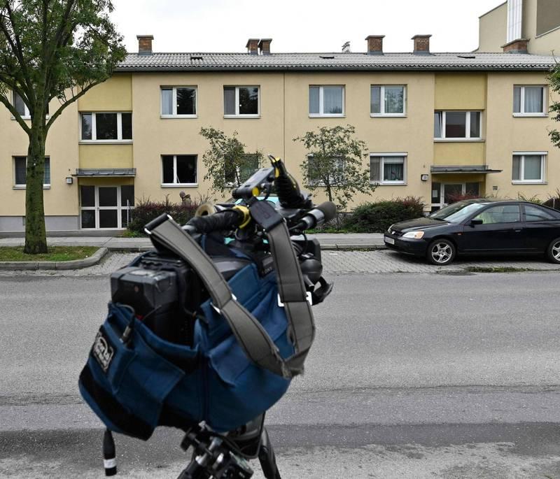 奧地利維也納女子殺害3名幼女,圖為案發公寓。(法新社)