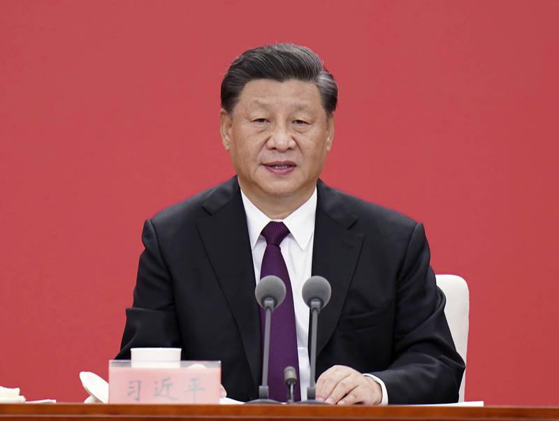 中國領導人習近平今年2月14日曾在中央全面深化改革委員會上首次提及「生物安全法」。(美聯社)