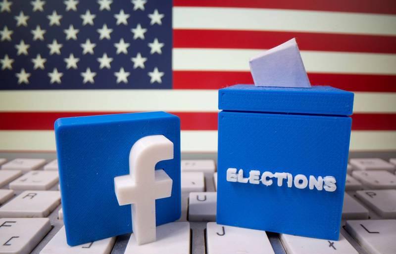 臉書官方透露,臉書及旗下的Instagram已拒絕220萬則廣告及12萬則貼文,因為判定這些廣告及貼文企圖妨礙用戶參與美國總統大選投票。(路透)