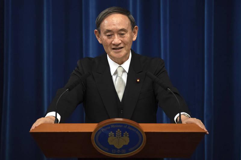 菅義偉在今日進行任內首次的國外訪問,此行將訪越南、印尼。(美聯社)