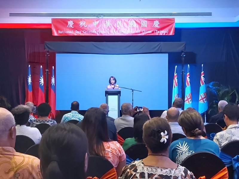 兩名中國外交人員8日企圖闖入我駐斐濟代表處國慶酒會,遭阻擋時竟動粗使我外館人員受傷。(取自斐濟代表處網站)