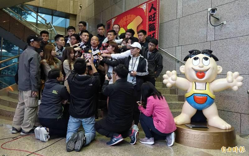 日前總統立委選舉、縣市長選舉期間,中天新聞台被外界指責過度報導國民黨候選人韓國瑜。(資料照)
