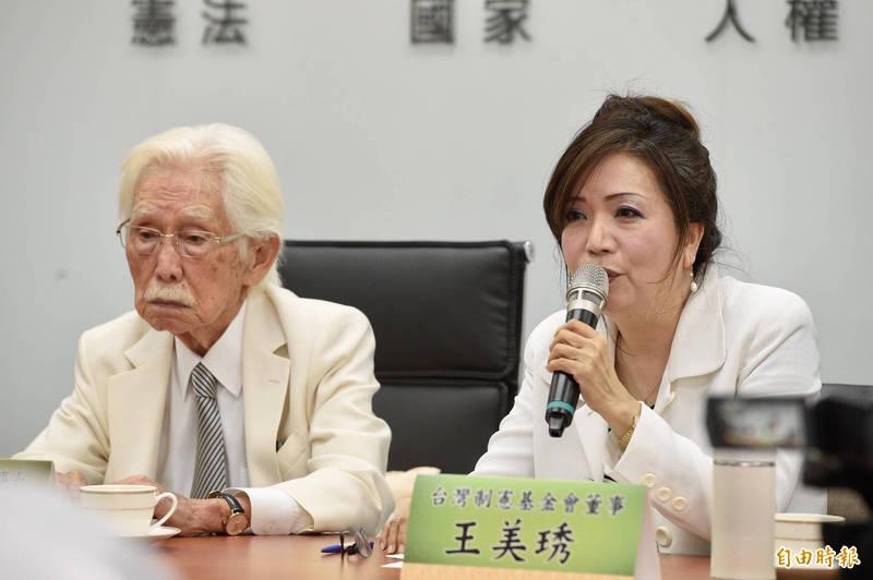 台灣制憲基金會董事長辜寬敏今日受訪表示,老蔣帶了60萬兵來台灣,台灣就變成了國民黨統治,這不是光復。(記者叢昌瑾攝)