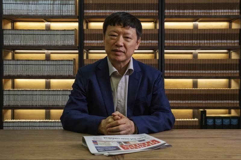 中國官媒環球時報總編輯胡錫進。(彭博)