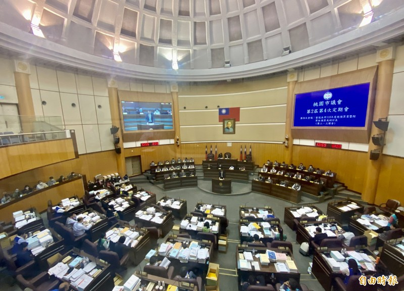 桃園市議會今天三讀通過桃園市政府明年總預算案,是全台第1個審查完明年度預算的縣市。(記者魏瑾筠攝)