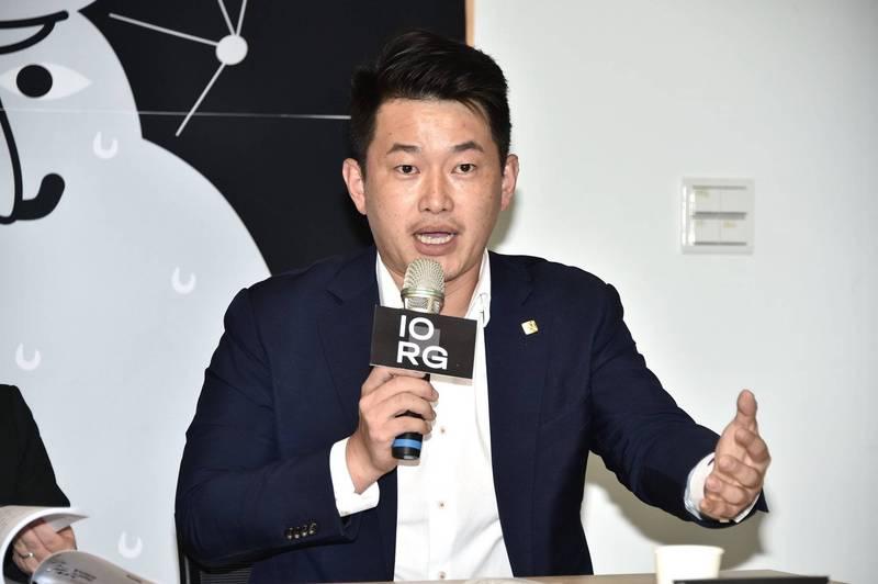 陳柏惟今日出席IORG的「解密中國對台認知戰:資訊操弄及網絡分析」記者會。(記者塗建榮攝)