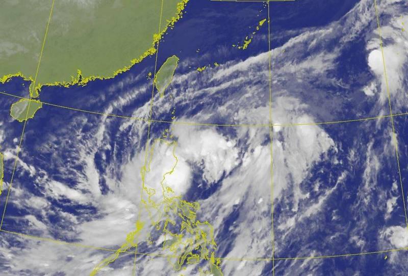 第17號颱風「沙德爾」即將登陸菲律賓呂宋島,儘管不會直接影響台灣,但其外圍環流與東北風配合,將有「共伴效應」出現。(圖擷自中央氣象局)