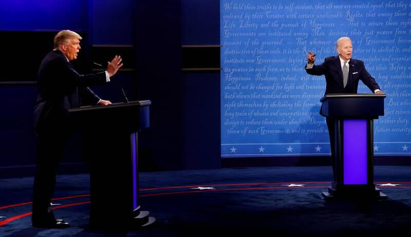 美國現任總統川普、民主黨籍總統參選人拜登。(路透)