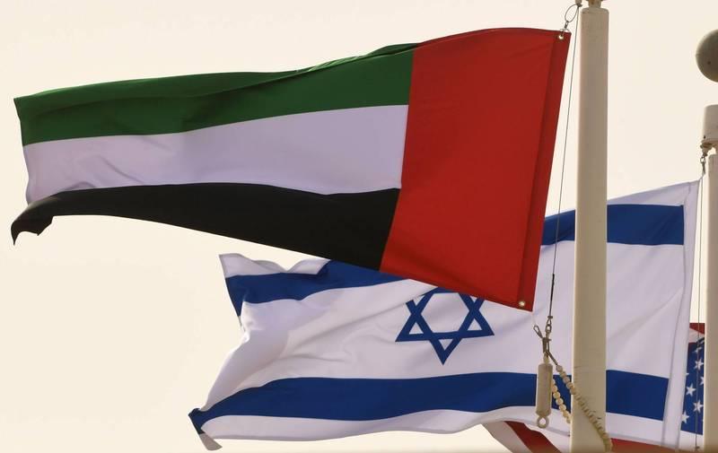 阿聯代表團今日將與以色列首長們會面,雙方預計會簽署免簽證協議。(法新社)