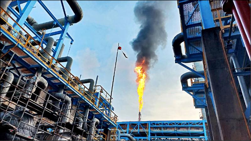 中油林園廠今年第四次出包,環保局以空污法加重處最高罰鍰500萬元。(記者陳文嬋翻攝)