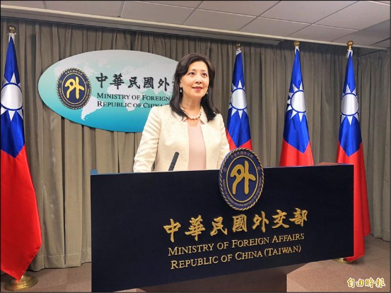 外交部發言人歐江安昨表示,中國外交官入侵活動場所、動手打人,說什麼都不對。中國今天這樣對待台灣、明天也不排除會這樣對待其他國家,呼籲國際共同譴責中國暴行。(記者呂伊萱攝)