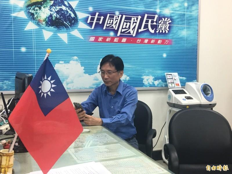 有村長外號的桃園市議員詹江村,被粉絲指控性侵。(記者謝武雄攝)
