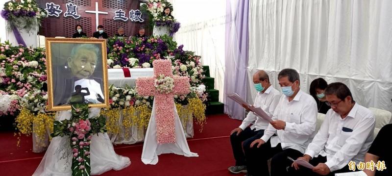 「長老娘」蔡省享耆壽96歲,今天上午舉行追思禮拜。(記者丁偉杰攝)
