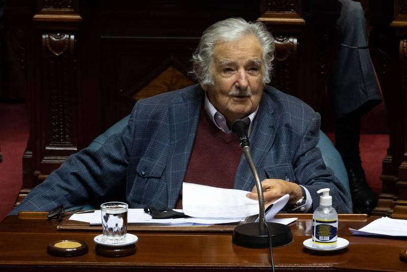 烏拉圭前總統穆西卡20日宣布引退政壇。他擔任總統期間,執政成績優異,深獲民心。(法新社)