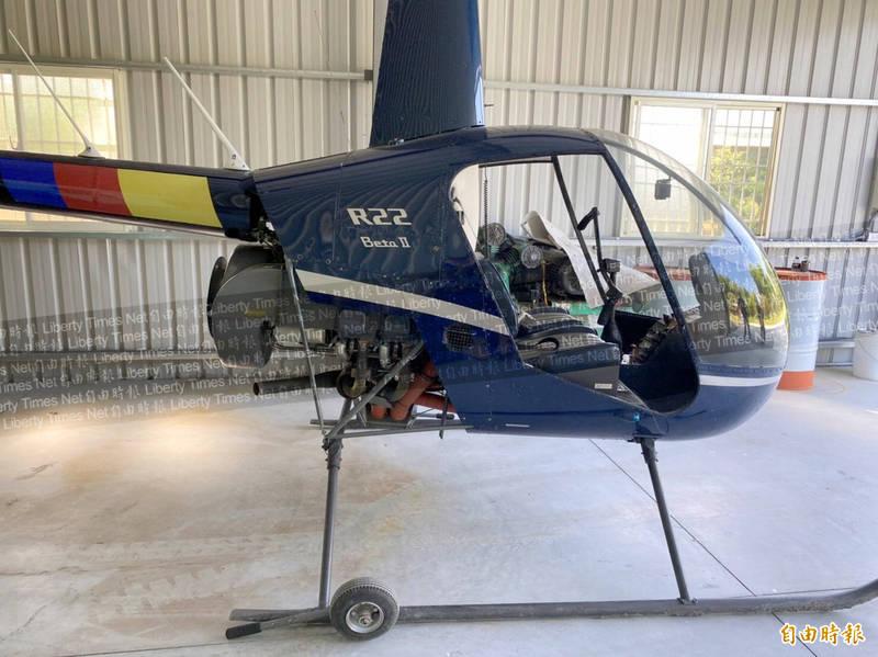 南投縣「廖董」的直昇機的確是「R22」型。(記者謝介裕攝)