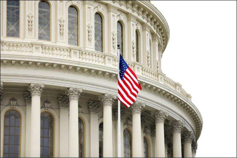 圖為美國國會大廈外觀。(中央社)