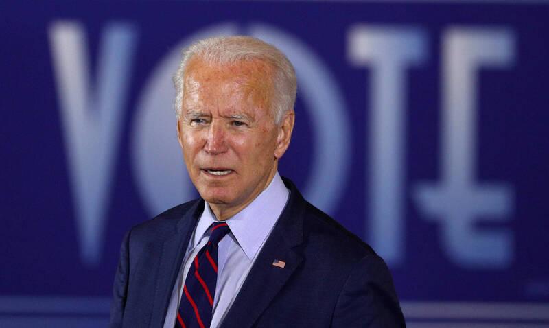 美國民主黨總統候選人拜登(Joe Biden)。(路透)