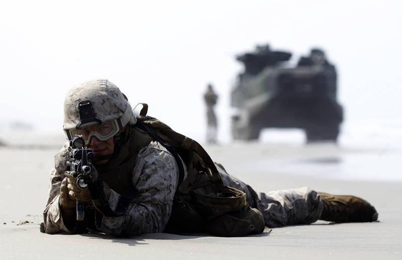 美軍擬定現代版跳島戰術應對海上軍事衝突。(美聯社)