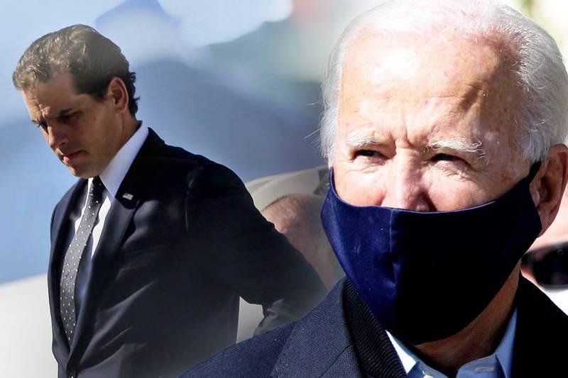 美國民主黨總統候選人拜登(Joe Biden)及其次子杭特(Hunter Biden)身陷「電郵門」風暴。(本報合成)