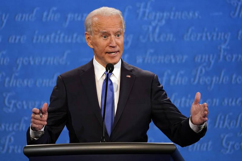 美國民主黨總統候選人拜登說他從沒反對過開採頁岩油。(美聯社)